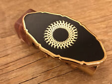 Stratton Lipstick Holder And Mirror Perfect Black And Gold Tones Vintage