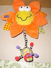 PLAYGRO PLUSH COLORFUL FLOWER  MUSICAL LIGHT UP BABY CRIB PULL TOY