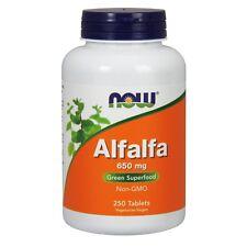 NOW Foods Alfalfa, 650 mg, 250 Tablets