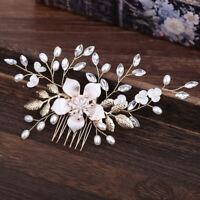 Bridal Hair Tiara Wedding Hair Comb Flower Women Hair Jewelry Pearl Rhinest!o '.
