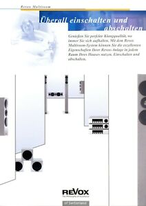 Revox Prospekt 2002 D HiFi Multiroom brochure prospectus Katalog catalogue