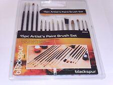 15pzi Artists Paint Brush Set per varietà di vernici ASSORTITI TAGLIE-zz623