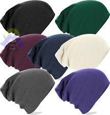 Cuffia BEECHFIELD B461 Uomo Donna UNISEX Slouch Beanie Corta/Lunga HAT CAP Nuova