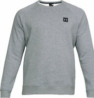 Under Armour Mens Rival Fleece Crew Neck Lightweight Cotton Sweater Grey Size XL