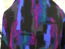 1yds print fabric good weight 4 way spandex lycra MADE IN USA J4937