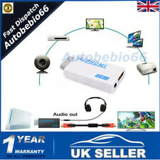 Wii to HDMI Converter Adapter 1080P HD Audio Output Cable 3.5mm Jack Lead