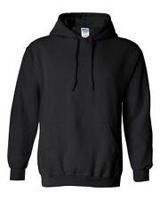 30 Gildan BLACK Adult Hooded Sweatshirts Bulk Lot Wholesale Hoodie S-XL
