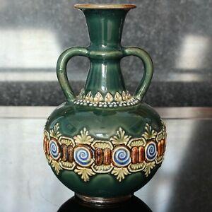 Doulton Lambeth ELIZA SIMMANCE applied decorated Urn Posy Vase, Early Mark