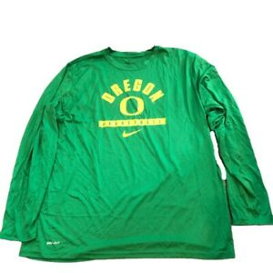 NWT New Oregon Ducks Nike Dri-Fit Basketball Legend Apple Long Sleeve XXL Shirt