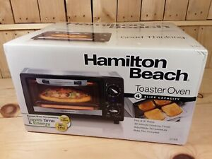 Hamilton Beach 4-Slice Toaster Oven - Black/Silver Model- 31144