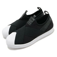 adidas Originals Superstar Slip On Black White Womesn Casual Shoes FW7051