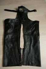 """Leather Motorcycle Chaps """"City Of Leather"""" size M, shortened"""