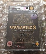 NEW SEALED UNCHARTED 3 SPECIAL EDITION PS3 SONY PLAYSTATION  VGA / UKG GRADED 90