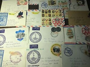 ASSORTED TONGA STAMPS ON ENVELOPES COMMERCIALY USED x 15.