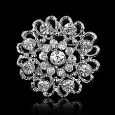 Buy 2 get 1 free rhinestone crystal bridal bouquet brooch pin wedding party B