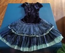 ISOBELLA & CHLOE Navy teal Velvet Formal Party Special Occasion Dress size 12