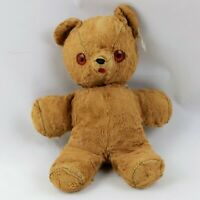 "Vintage Character Novelty Co Teddy Bear Wind Up Foam stuffed Red Eyes 11"" Creepy"