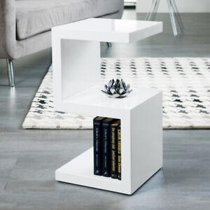Designer Boston Square Side/End Table,Gloss White Office Living Room Bedroom