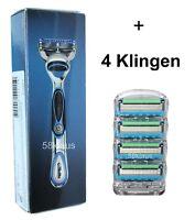 Gillette Fusion ProGlide Power Rasierer silber Set 1 + 4 im Blister = 5 Klingen
