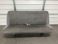 1999-2007 99-07 Ford Econoline Van Bench Seat - 4 Person, Gray Cloth