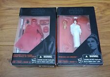 STAR WARS BLACK SERIES 4 INCH EMPEROR'S ROYAL GUARD FIGURE PRINCESS LEIA ORGANA
