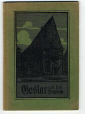 Niedersachsen Harz Goslar Stadt Geschichte alter Reiseführer 1911