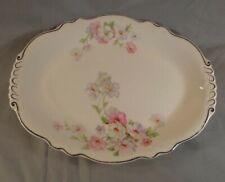 "Vintage Homer Laughlin 11-1/2"" Oval Serving Plate Dish Virginia Rose"