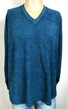 Russell Athletic VNeck Blue Polyester Blend Sweatshirt Mens Large Pullover