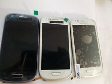 3x Samsung Galaxy S3 mini i8190 LCD Screen Digitizer with Frame Blue / White