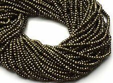 "Natural Gemstone Golden Pyrite Micro Faceted 3MM Rondelle Beads 13"" Strand"