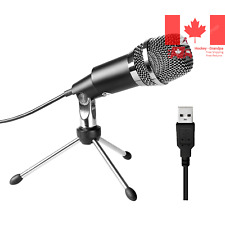 USB Microphone Fifine Plug and Play PC Computer USB Condenser Microphone for ...