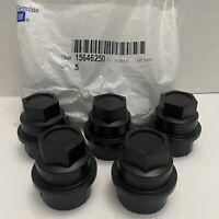Bag of 5 Chevy GMC OEM NEW GM Wheel Lug Nut Covers 15646250 Black