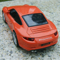 Model Cars Porsche 911 Carrera S 1:32 Sound&Light Alloy Diecast Collection&gifts
