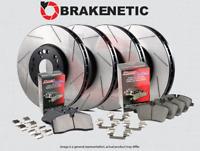 [F&R] PREMIUM SLOTTED Brake Rotors + POSI QUIET Pads [w/BREMBO] BPK72452