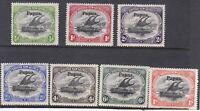 PNG844) Papua 1906 Lakatois. Large 'Papua' overprints simplified set of 7