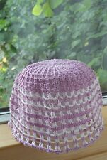 Hand crochet sun hat size 1-3 years toddler 100% Cotton