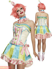 Adult Womens Fever Deluxe Vintage Clown Costume W/ Corset Smiffys Fancy Dress -s