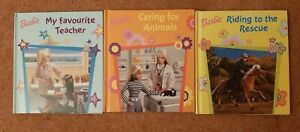 Barbie Books x3: My Favourite Teacher, Caring for Animals & Riding to the Rescue