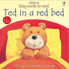 Ted in a Red Bed (Usborne Easy Words to Read) by Phil Roxbee Cox