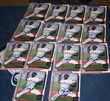 lot of 14 dillon tate new york yankees texas rangers signed baseball cards L