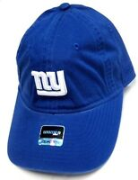 New York Giants NFL Reebok Blue Relaxed Slouch Hat Cap Women's White NY Logo