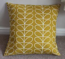 "LINEAR STEM CUSHION COVER IN DANDELION 18 X 18"" HANDMADE"
