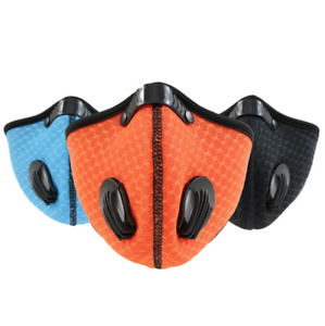 Face Mask Reusable Cycling Sport Face Mask Brand New Washable + 10 FILTERS
