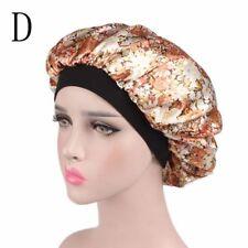 Ladies Women Wide Band Satin Bonnet Comfortable Night Sleep Hat Hair Cap Turban D