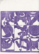CARLOS DUSS * original wood cut from 1978 * ALAN SUNDBERG