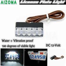 White LED Tag Bracket Lamp Strip LED License Plate Light Universal Motorcycle