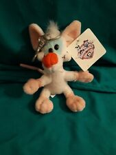RARE Pinky and The Brain Plush Keychain 1998 Pinky Warner Bros With Tag!