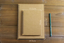 KRAFT Double Spiral Journal / Wedding Guest Scrapbook Album / Sketch Book