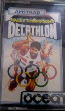 Daley Thompsons Decathlon Schneider CPC Cassette (Tape) (Game, Box, Manual)