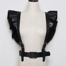 Women's PU Leather Body Harness Cage Belt Adjustable Straps Punk Waist Suspender